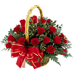 4 Dozen Red Roses Basket 22 Lbs Hotel Cake 2 KG Mix Mithai 7 Kg Fruits Ferrero Rocher Chocolate 12 Dunkin Donuts