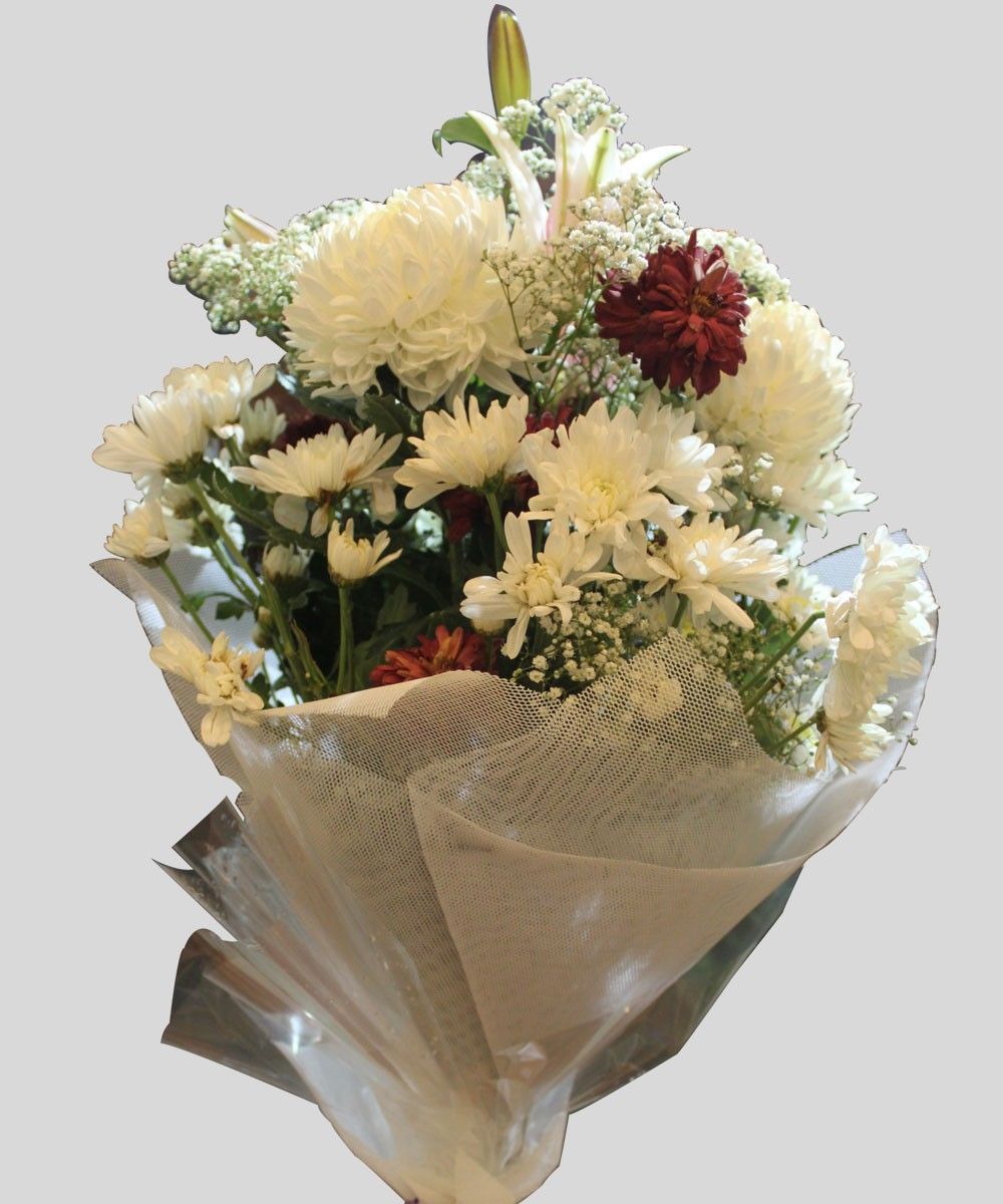 Mix imported flowers bouquet to pakistan delivery to pakistan small mix imported bunch mixture of 36 seasonal flowers including lilies izmirmasajfo